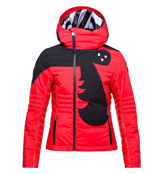 Rossignol W NUITI DOWN JKT dámská červená lyžařská bunda
