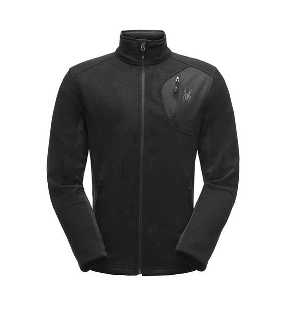 Spyder M BANDIT FZ STRYKE Jacket pánská černá zimní bunda blk/blk/blk