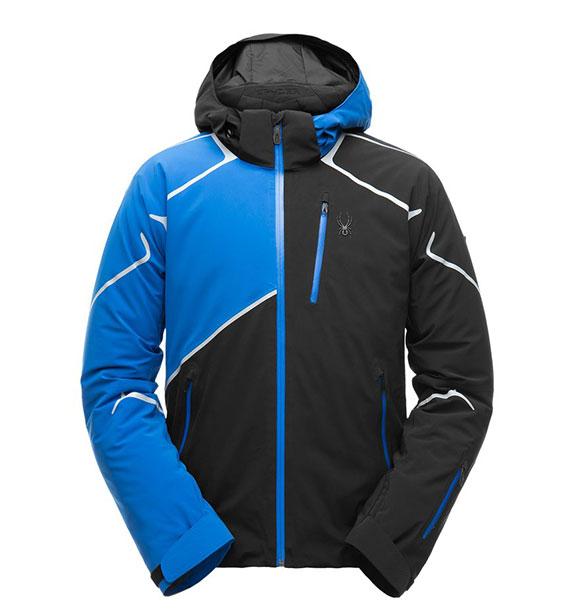 Spyder M BROMONT Jacket pánská modro černá lyžařská bunda blk/tus/tus