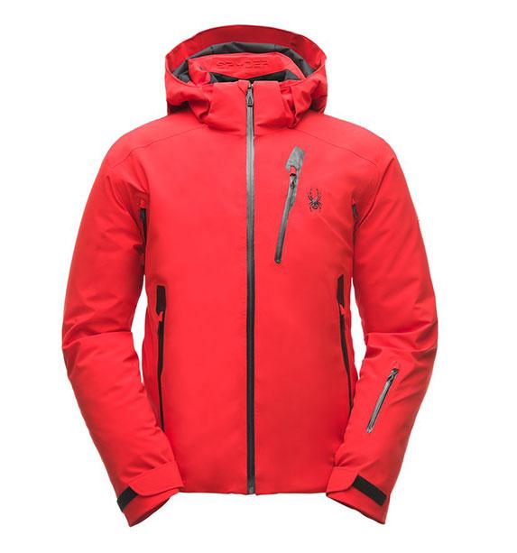 Spyder M VANQYSH Jacket pánská červená lyžařská bunda vol/blk