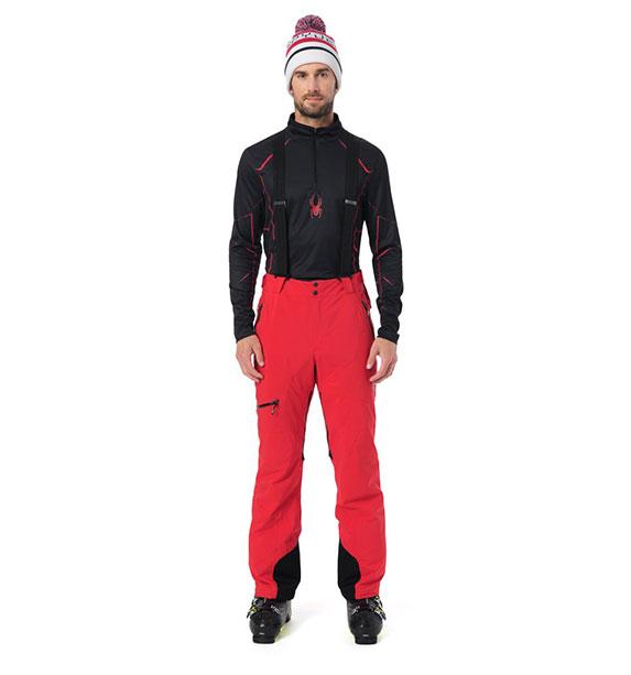 Spyder M PROPULSION M Pant pánské červené lyžařské kalhoty vol/blk