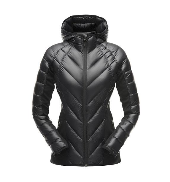 Spyder W SYRROUND HYBRID HOODY Jacket dámská černá zimní bunda blk/blk/blk