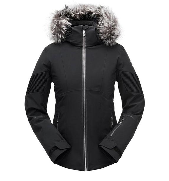 Spyder W DIABLA REAL FUR Jacket dámská černá lyžařská blk/blk