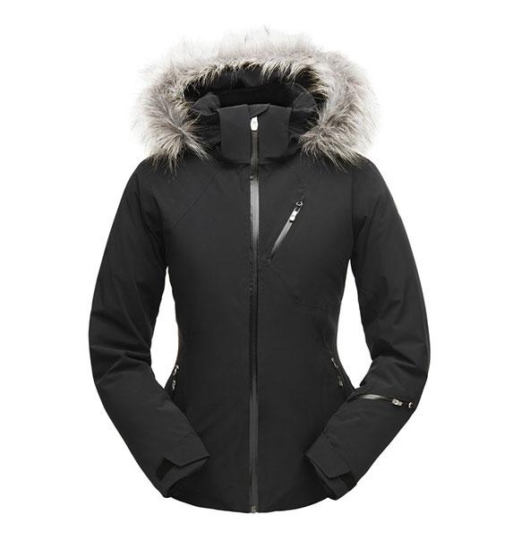 Spyder W GENEVA FAUX FUR Jacket dámská černá lyžařská bunda blk/blk