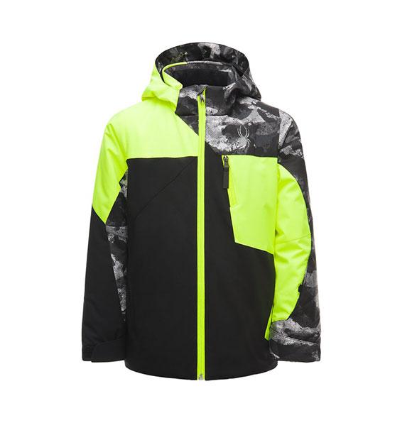 Spyder Boy's AMBUSH Jacket B chlapecká lyžařská bunda blk/yel/cdp