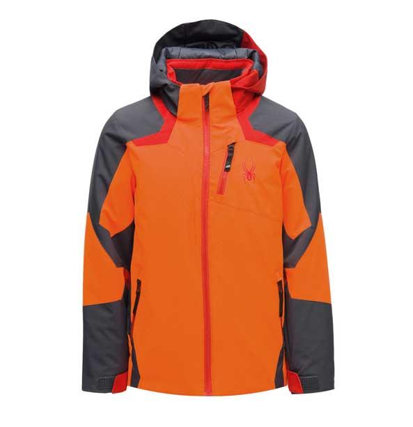 Spyder BOYS LEADER-Jacket-bryte orange chlapecká lyžařská bunda