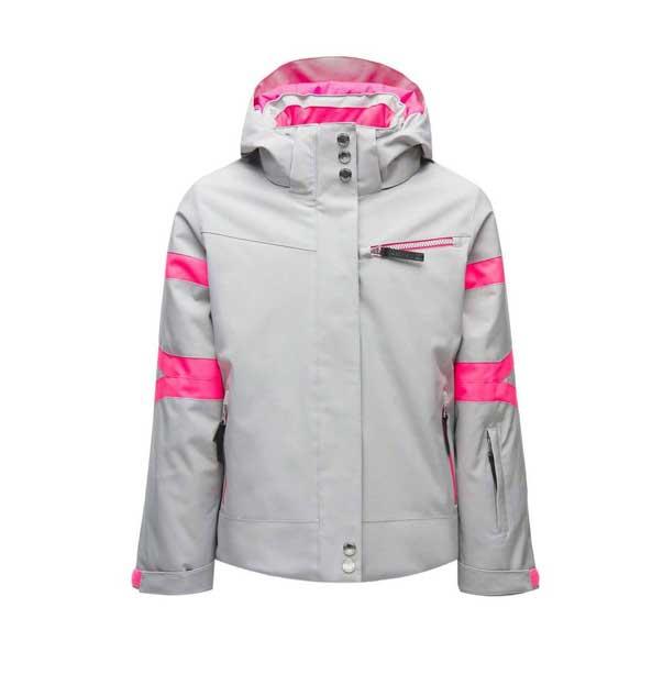 Spyder GIRLS PODIUM-Jacket-silver dívčí lyžařská bunda