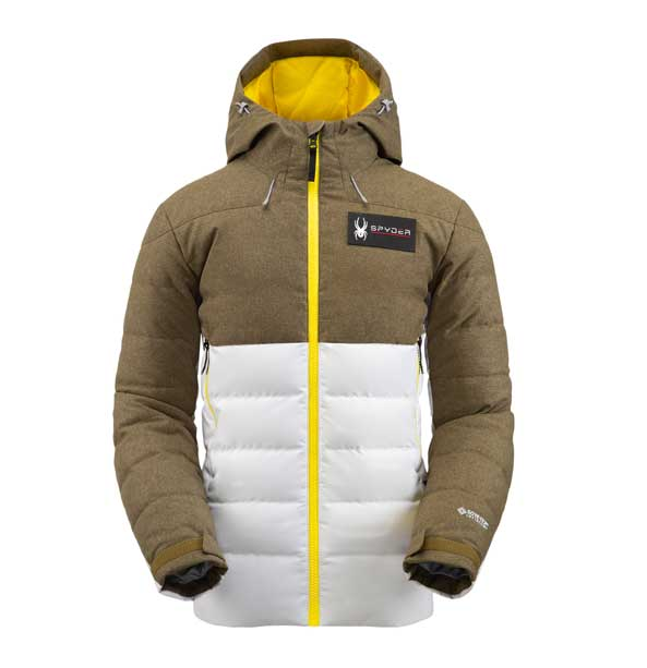 Spyder M ROCKET GTX INFINIUM-Down Jacket-maverick gray pánská lyžařská bunda