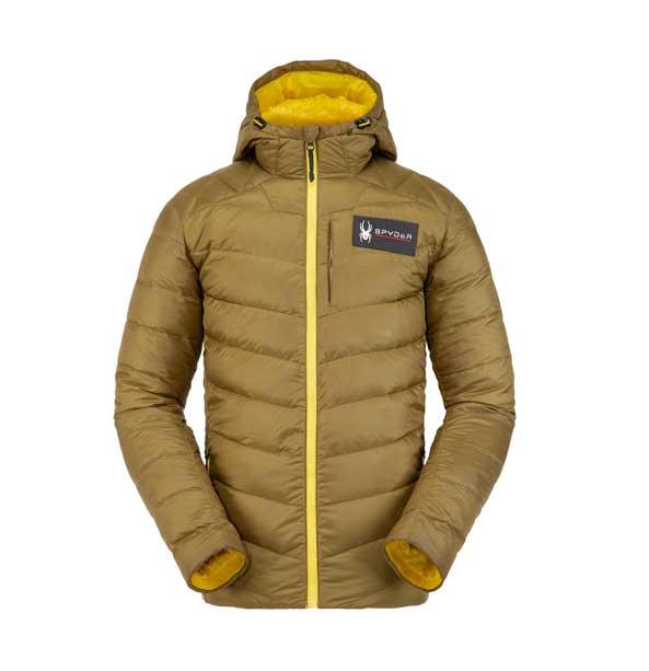 Spyder M TEAM TIMELESS Down Jacket-sarge pánská zimní lyžařská bunda