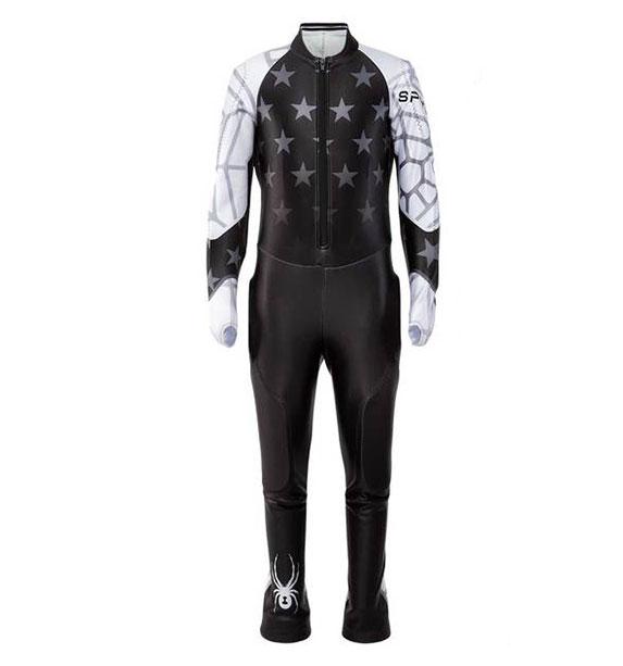 Spyder GIRLS PERFORMANCE GS-Race Suit-black dívčí lyžařská závodní kombinéza