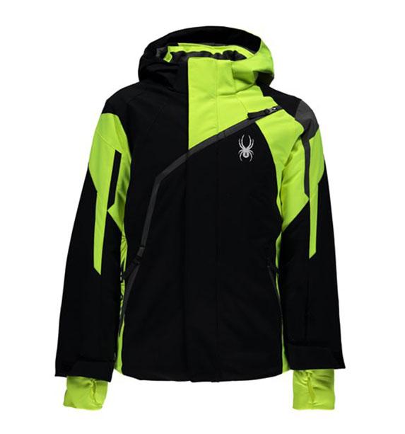 Spyder Boy's CHALLENGER chlapecká černá neon zimní lyžařská bunda