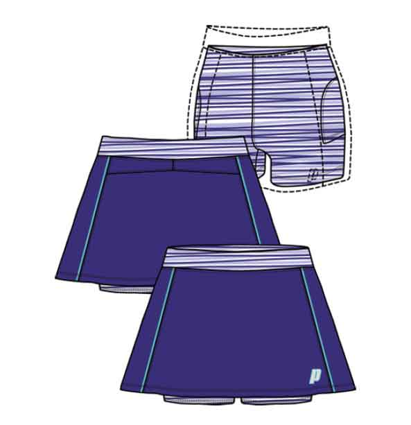 566030a9f720 Prince juniorská sukně s vnitřními kraťasy azurová