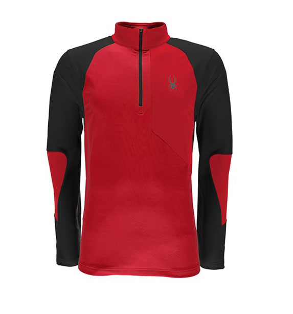 Spyder M CHARGER THERMASTRETCH-T-Neck-red/red/blk