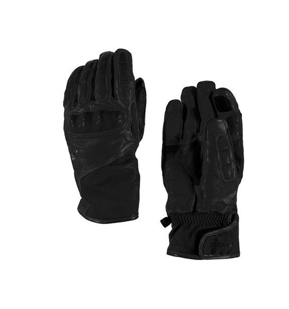 Spyder M B.C. pánské kožené černé zimní lyžařské rukavice