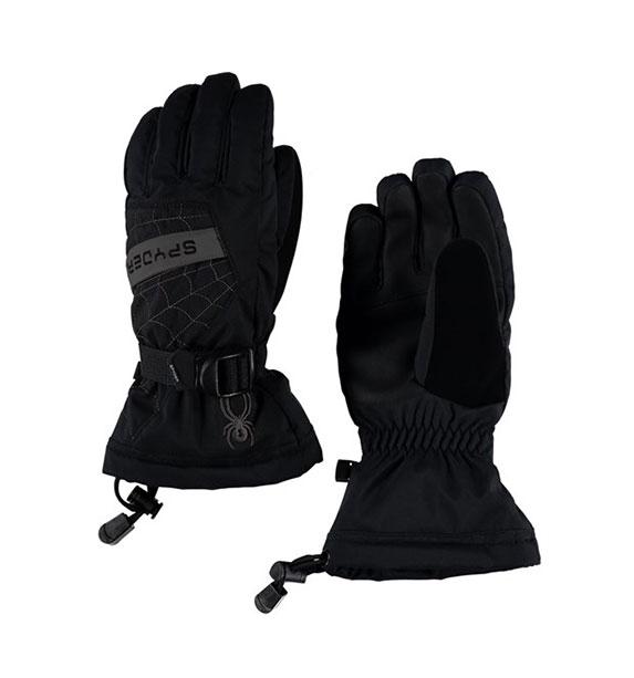Spyder Boy's OVERWEB chlapecké černo šedé snowboardové lyžařské rukavice