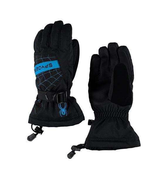 Spyder Boy's OVERWEB chlapecké černo modré snowboardové lyžařské rukavice