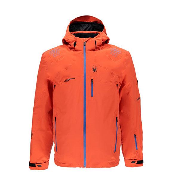 Spyder M MONTEROSA pánská oranžová zimní lyžařská bunda