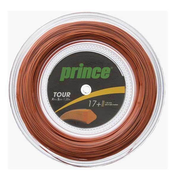 Prince tenisový výplet Tour XS 17+ 1.25+ mm - 200 m Reel, oranžová