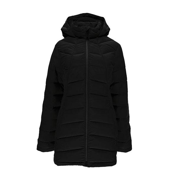 Zimní Spyder  Spyder W SYRROUND LONG DOWN dámský péřový černý kabát af5e70c2fc