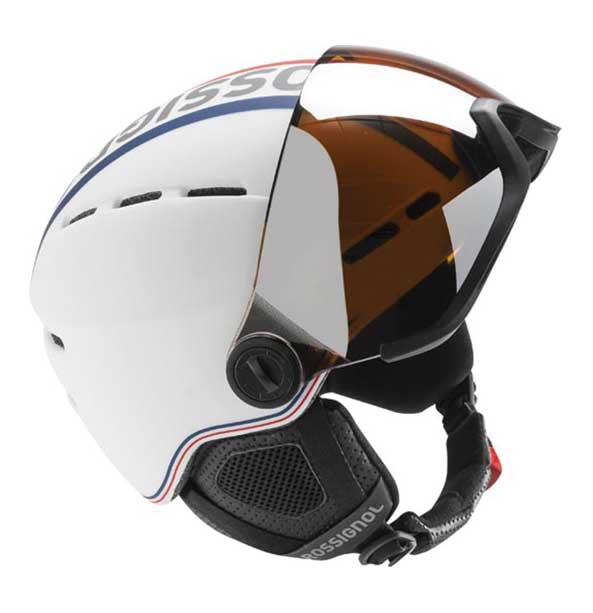 Rossignol Visor-Single Lense bílá lyžařská helma se štítem 3a66d38c7fc