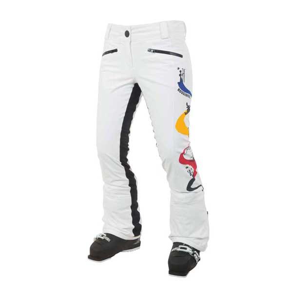 Rossignol EXITO DX JCC dámské lyžařské kalhoty bílé  00e869a777