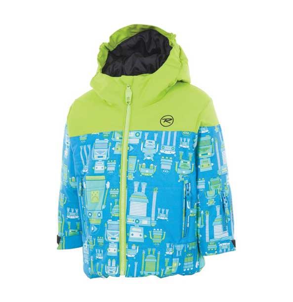 Rossignol KID MINI dětská zimní bunda, zeleno-modrá