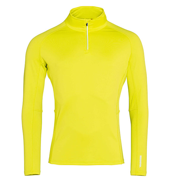 Rossignol CLASSIQUE 1 2 ZIP neon žlutá mikina ac69c00b51