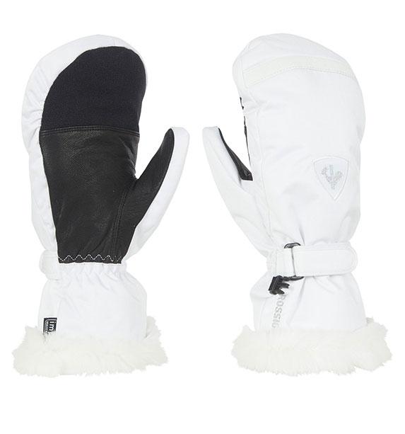 Lyžařské rukavice  Rossignol Woman PEARL IMPR M bílé rukavice - M 33080301e8