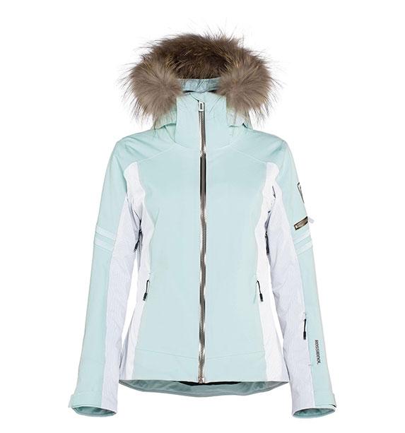 Rossignol Woman ELITE JKT dámská tyrkysová lyžařská bunda