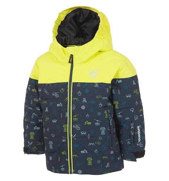 Rossignol KID FLOCON JKT dětská žlutá lyžařská bunda