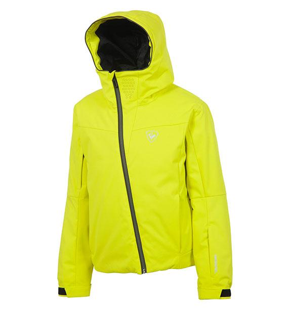 Rossignol BOY CONTROLE JKT chlapecká neon žlutá lyžařská bunda