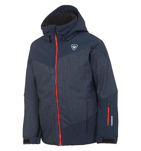 Rossignol BOY SKI JKT chlapecká modro šedá lyžařská bunda