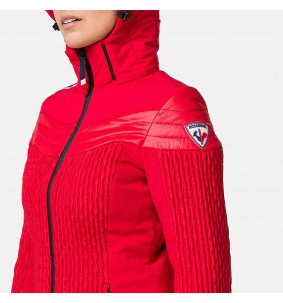 Rossignol W CINETIC JKT dámská červená lyžařská bunda