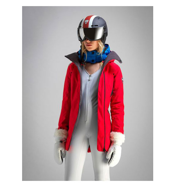 Rossignol W CADRAN LONG JKT dámská červená lyžařská bunda