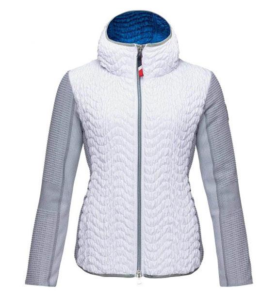 Rossignol W PALMARES LIGHT HOOD JKT dámská bílá bunda