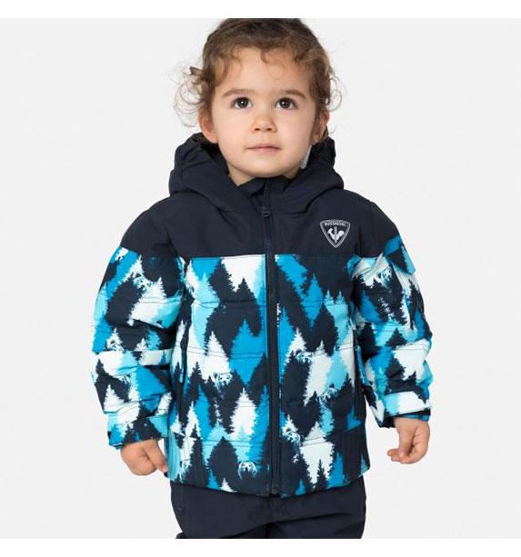 Rossignol KID FLOCON JKT dětská modrá lyžařská bunda