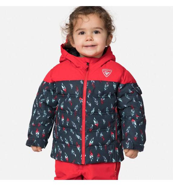Rossignol KID FLOCON JKT dětská červeno modrá lyžařská bunda
