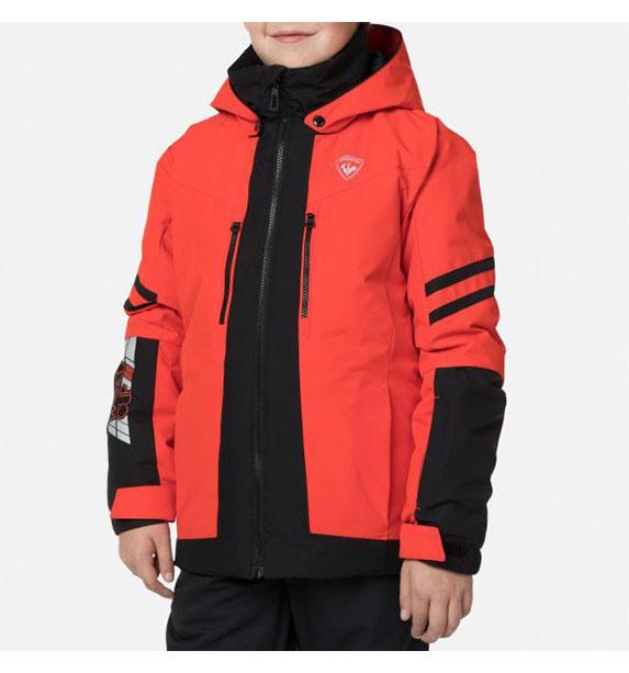 Rossignol BOY COURSE JKT chlapecká lyžařská bunda červená