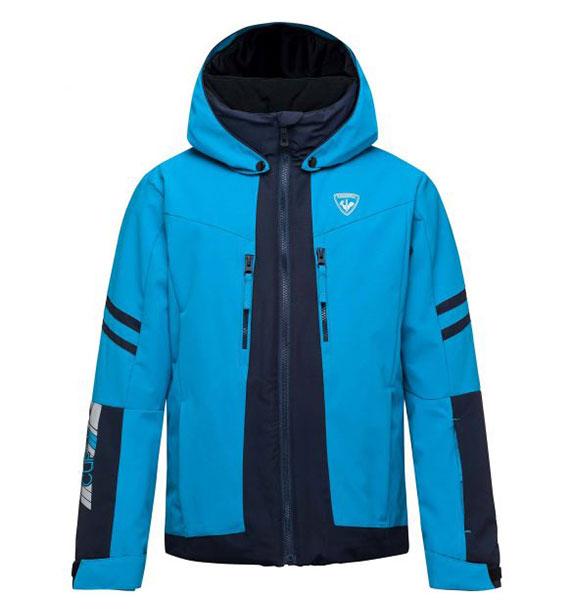 Rossignol BOY COURSE JKT chlapecká modrá lyžařská bunda