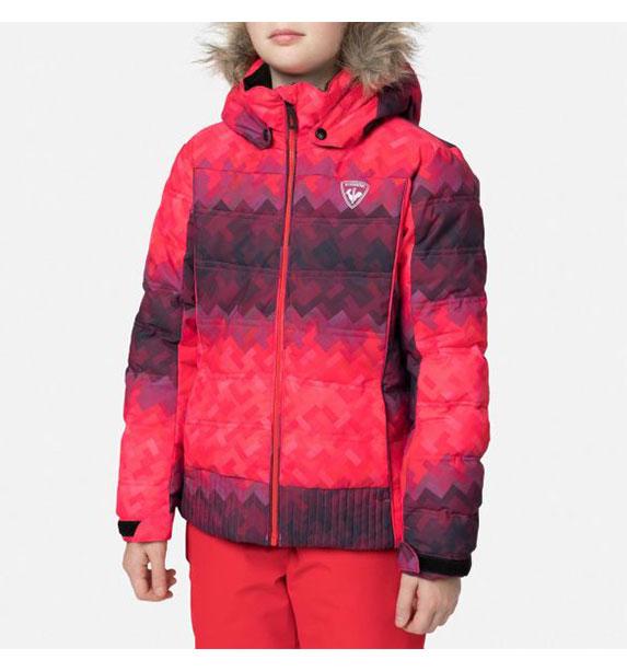 Rossignol GIRL BB POLYDOWN PR JKT dívčí červená lyžařská bunda