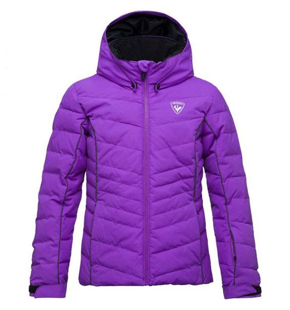 Rossignol GIRL POLYDOWN JKT dívčí fialová lyžařská bunda