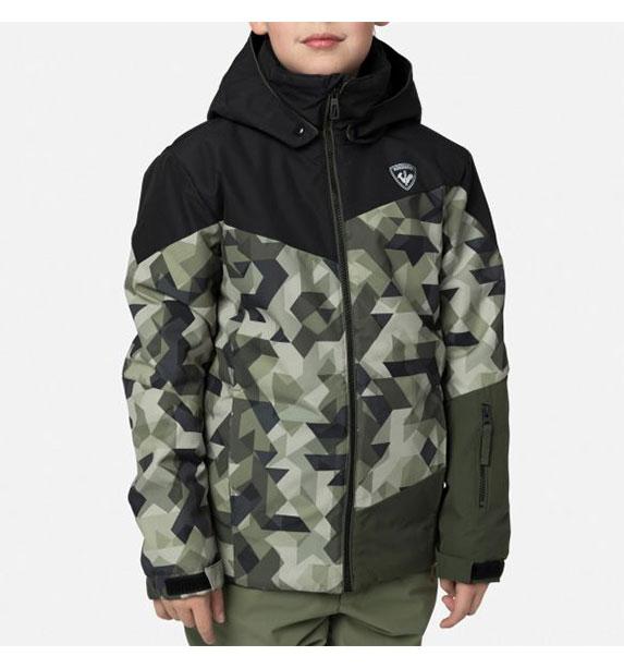 Rossignol BOY SKI PR JKT chlapecká černo zelená bunda