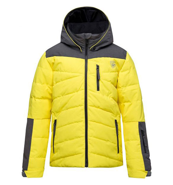 Rossignol BOY POLYDOWN JKT chlapecká žlutá lyžařská bunda