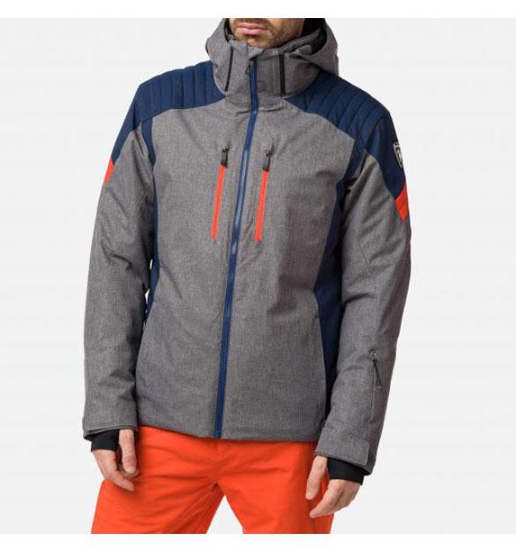 Rossignol SKI HEATHER JKT HEATHER GREY pánská lyžařská bunda