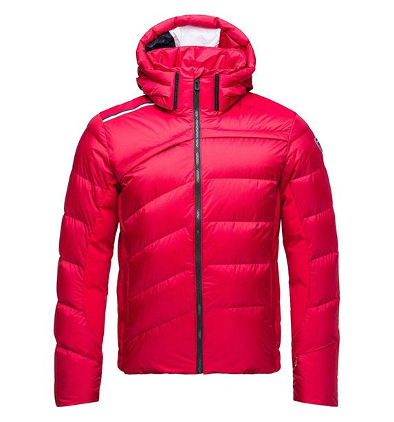 Rossignol HIVER DOWN JKT pánská červená lyžařská bunda