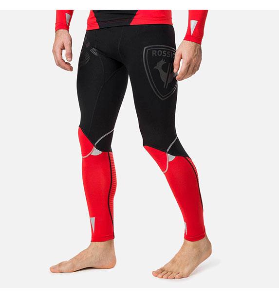 Rossignol INFINI COMPRESSION RACE TIGHTS CRIMSON pánské běžecké funkční kalhoty