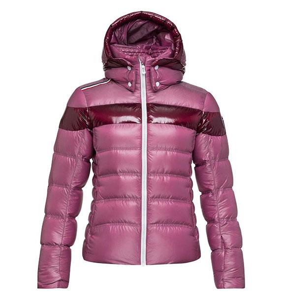 Rossignol W HIVER METALIC DOWN JKT dámská růžová lyžařská bunda