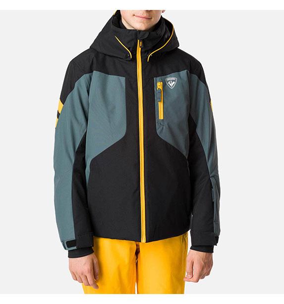 Rossignol BOY COURSE JKT Black chlapecká lyžařská bunda
