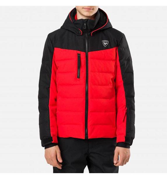 Rossignol BOY POLYDOWN JKT CRIMSON chlapecká lyžařská bunda