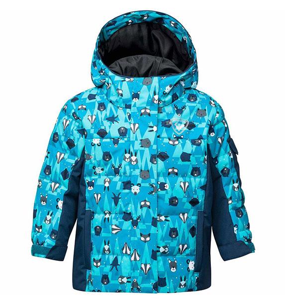 Rossignol KID FLOCON PR JKT dětská péřová modrá zimní bunda